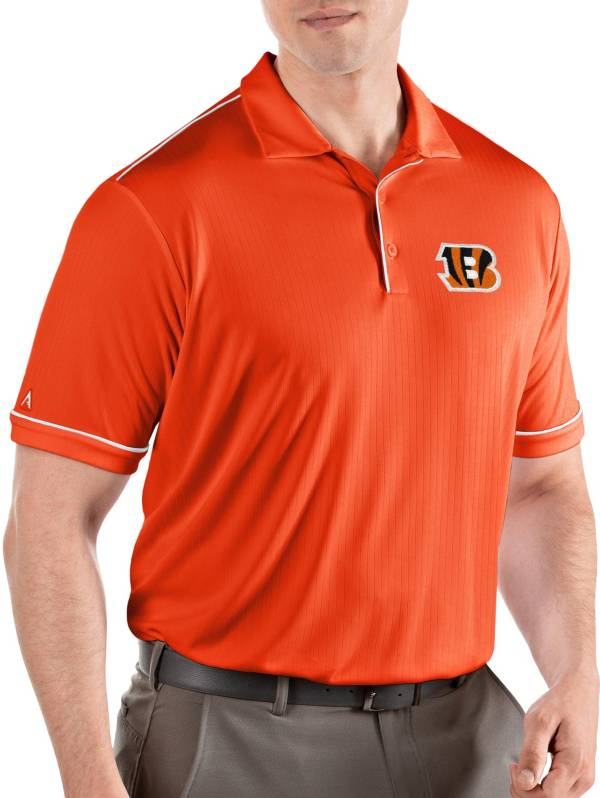 Antigua Men's Cincinnati Bengals Salute Orange Polo product image
