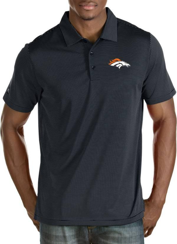 Antigua Men's Denver Broncos Quest Navy Polo product image