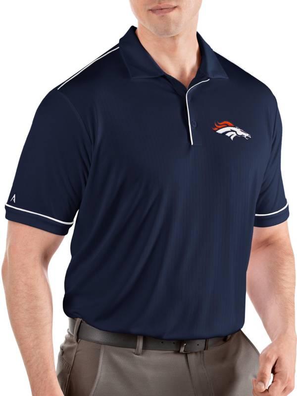 Antigua Men's Denver Broncos Salute Navy/White Polo product image