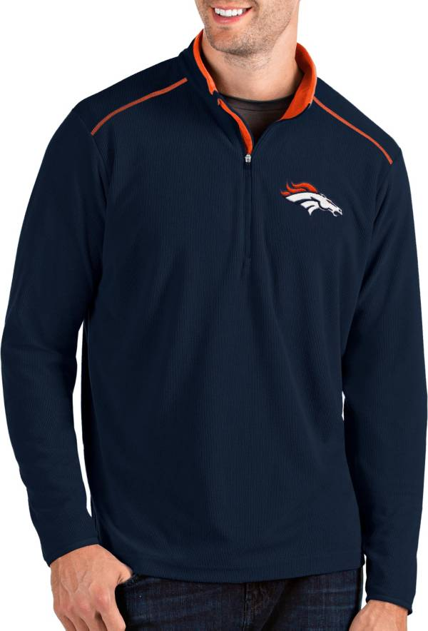 Antigua Men's Denver Broncos Glacier Navy Quarter-Zip Pullover product image