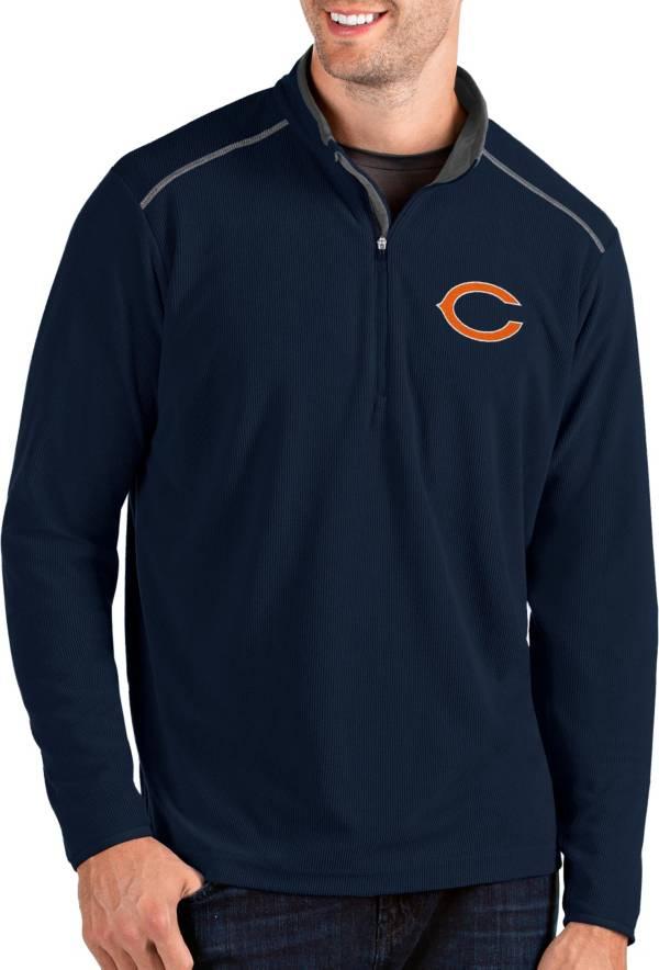 Antigua Men's Chicago Bears Glacier Navy Quarter-Zip Pullover product image