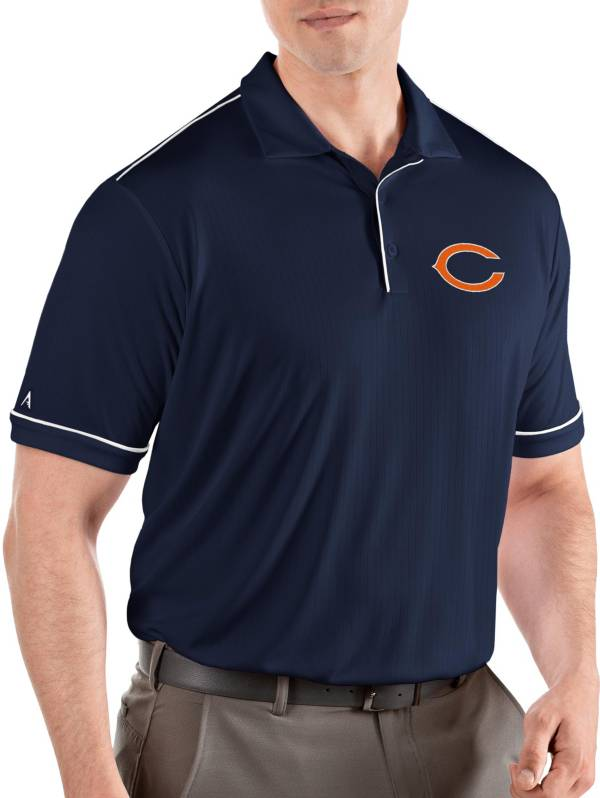 Antigua Men's Chicago Bears Salute Navy/White Polo product image