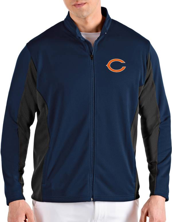 Antigua Men's Chicago Bears Passage Navy Full-Zip Jacket product image