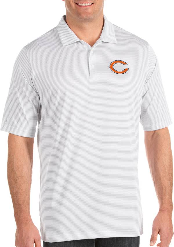 Antigua Men's Chicago Bears Quest White Polo product image