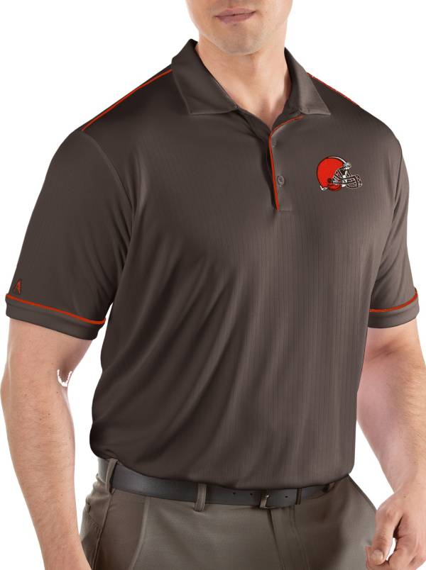 Antigua Men's Cleveland Browns Salute Brown Polo product image