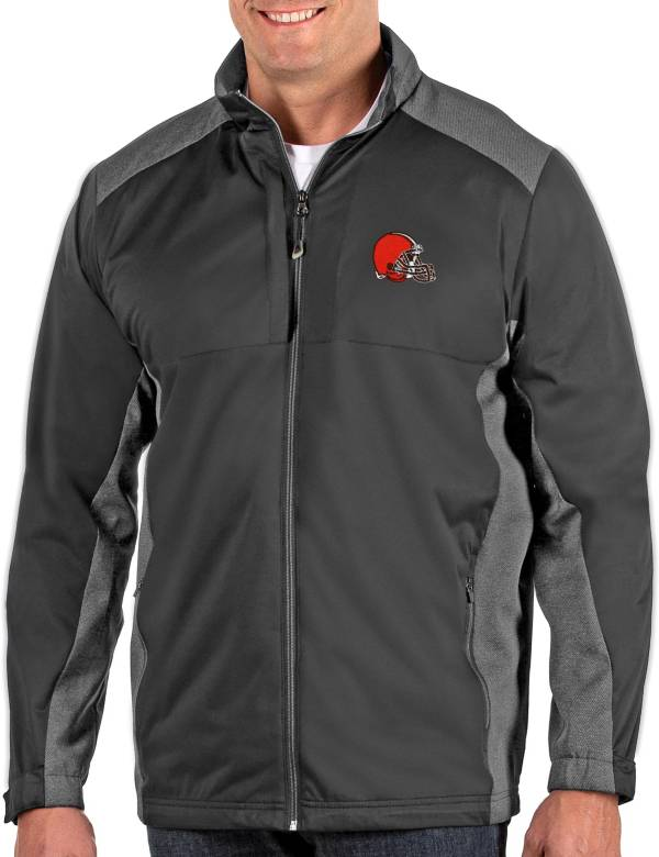 Antigua Men's Cleveland Browns Revolve Charcoal Full-Zip Jacket product image