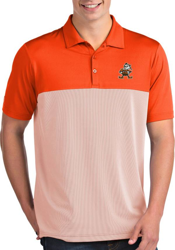 Antigua Men's Cleveland Browns Venture Orange Performance Polo product image