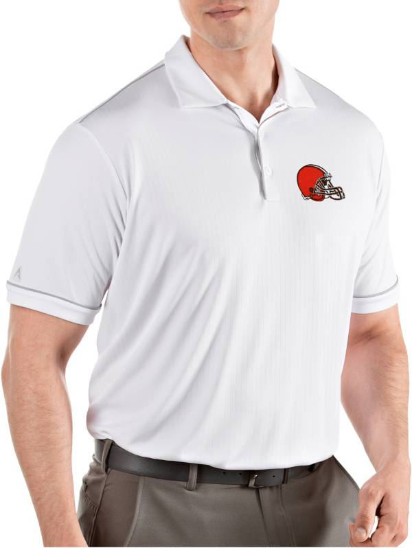 Antigua Men's Cleveland Browns Salute White Polo product image