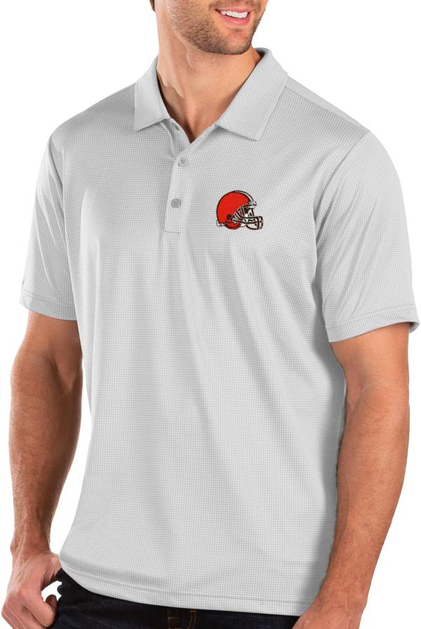 Antigua Men's Cleveland Browns Balance White Polo product image