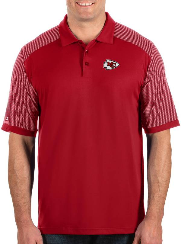 Antigua Men's Kansas City Chiefs Engage Performance Red Polo product image