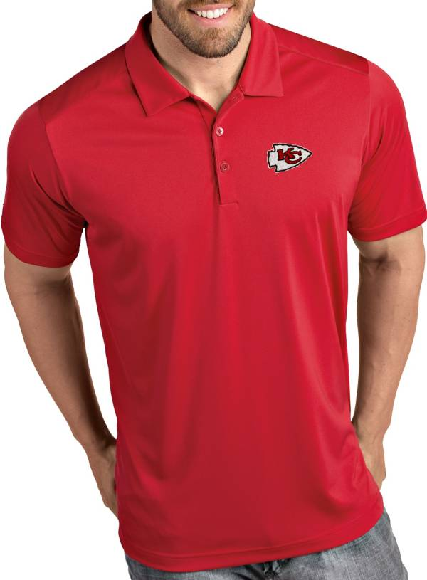 Antigua Men's Kansas City Chiefs Tribute Red Polo product image