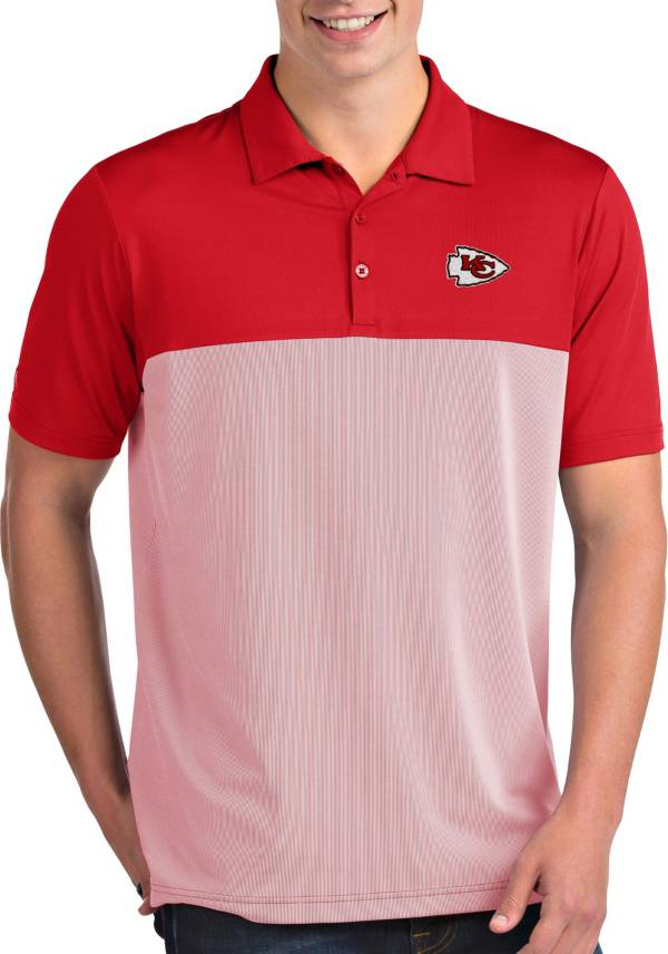 Antigua Men's Kansas City Chiefs Venture Red Performance Polo product image
