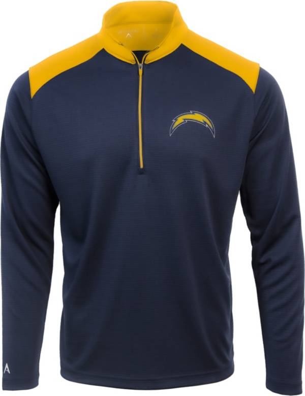 Antigua Men's Los Angeles Chargers Velocity Navy Quarter-Zip Pullover product image
