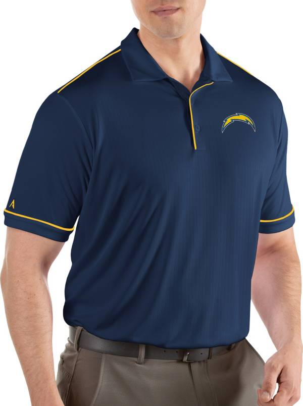 Antigua Men's Los Angeles Chargers Salute Navy Polo product image