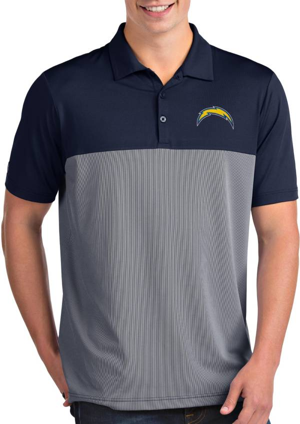 Antigua Men's Los Angeles Chargers Venture Navy Performance Polo product image