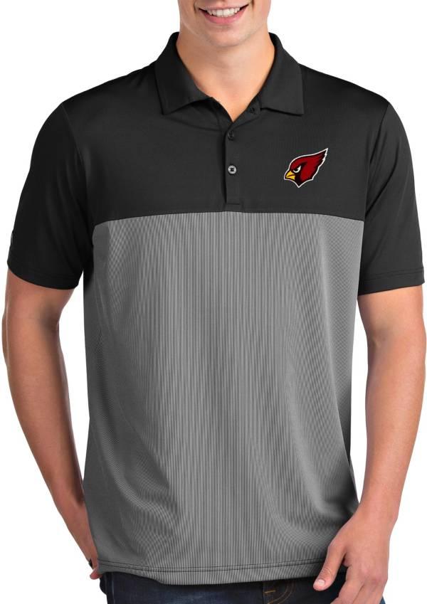 Antigua Men's Arizona Cardinals Venture Black Performance Polo product image