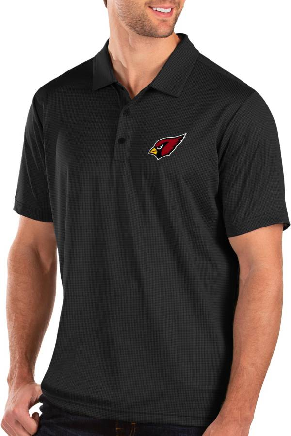 Antigua Men's Arizona Cardinals Balance Black Polo product image