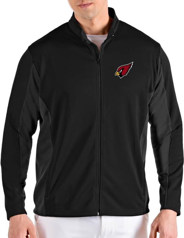 Antigua Men's Arizona Cardinals Passage Black Full-Zip Jacket product image