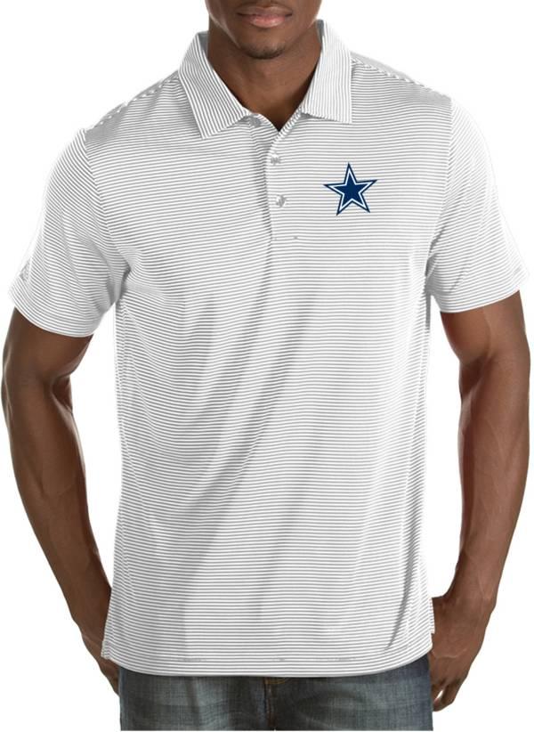 Antigua Men's Dallas Cowboys Quest White Polo product image