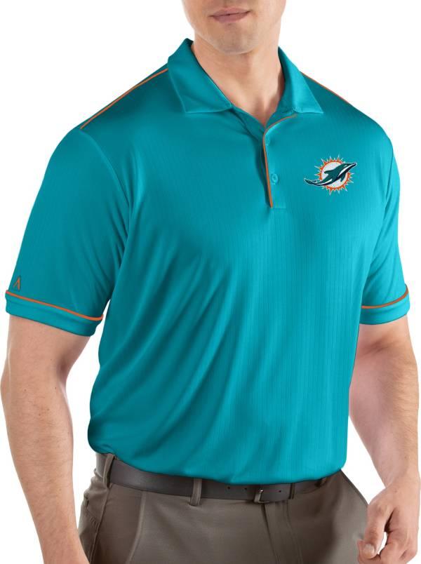 Antigua Men's Miami Dolphins Salute Aqua Polo product image