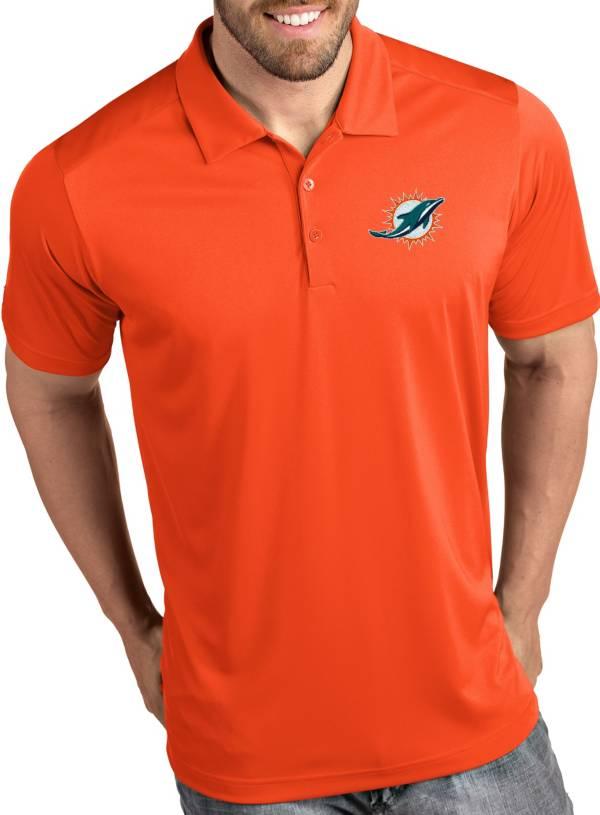 Antigua Men's Miami Dolphins Tribute Orange Polo product image