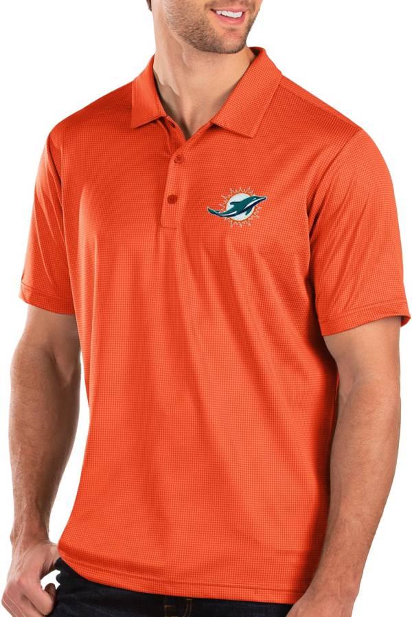 Antigua Men's Miami Dolphins Balance Orange Polo product image