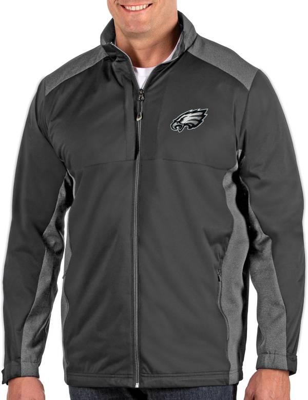 Antigua Men's Philadelphia Eagles Revolve Charcoal Full-Zip Jacket product image