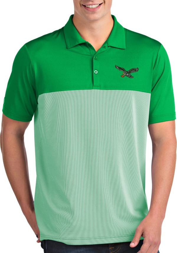 Antigua Men's Philadelphia Eagles Venture Green Performance Polo product image
