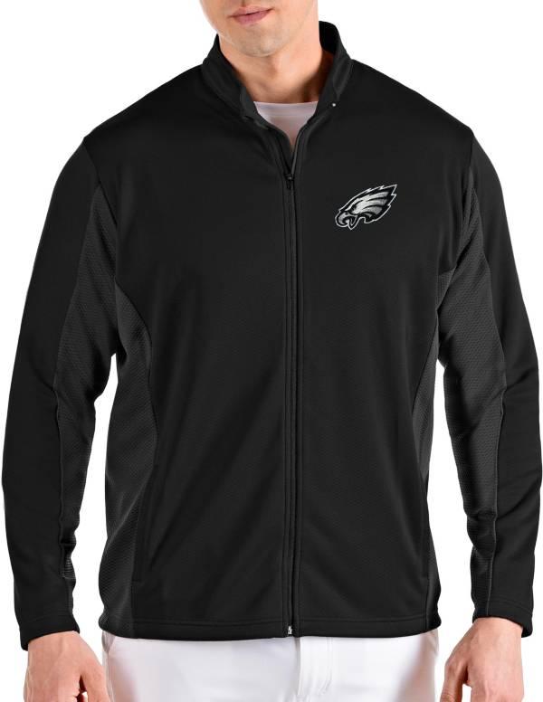 Antigua Men's Philadelphia Eagles Passage Black Full-Zip Jacket product image