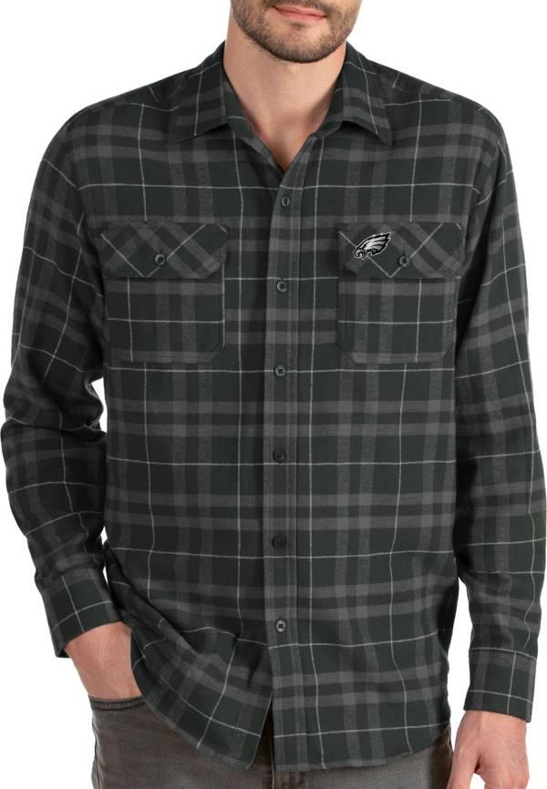Antigua Men's Philadelphia Eagles Stance Long-Sleeve Flannel Top product image