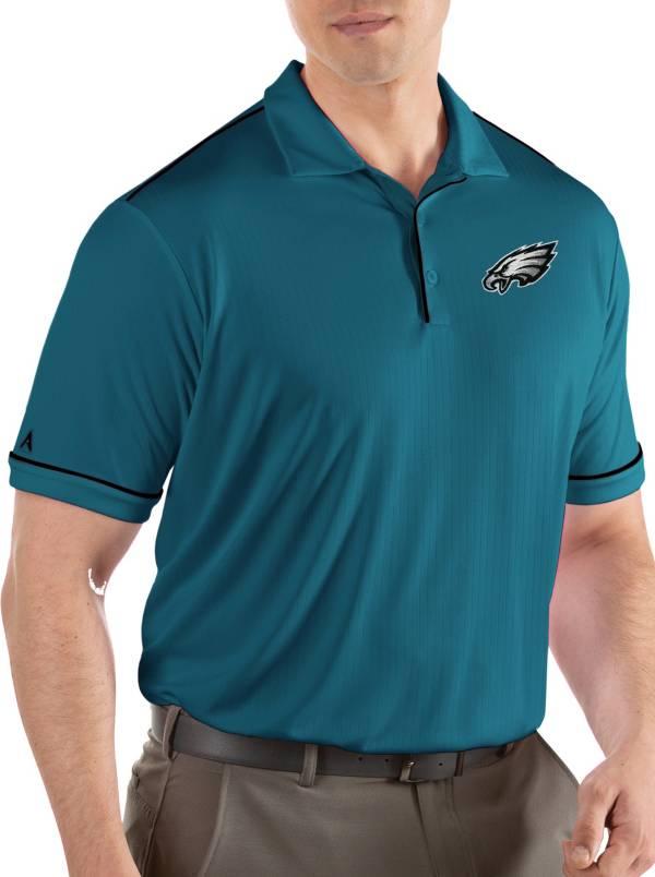 Antigua Men's Philadelphia Eagles Salute Teal Polo product image