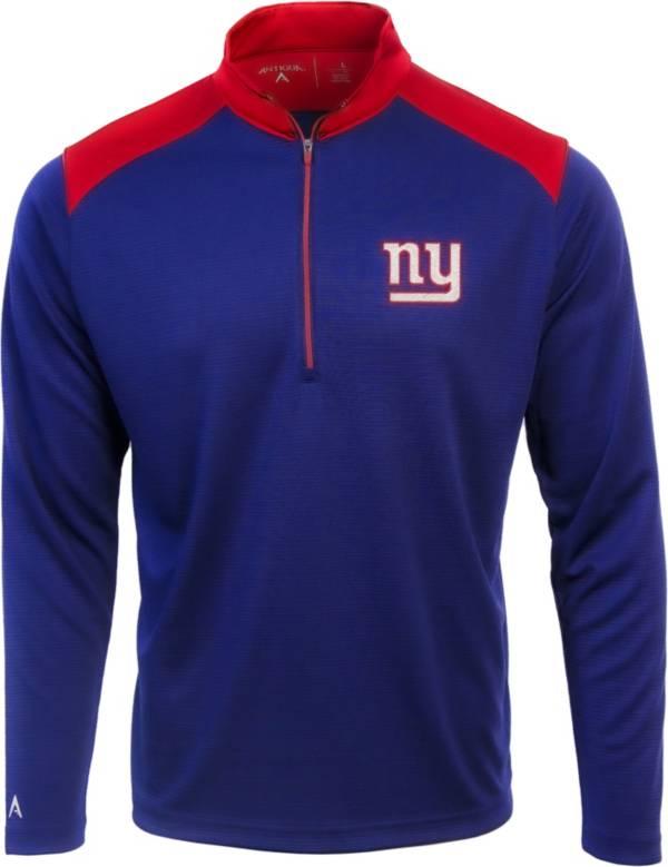 Antigua Men's New York Giants Velocity Royal Quarter-Zip Pullover product image