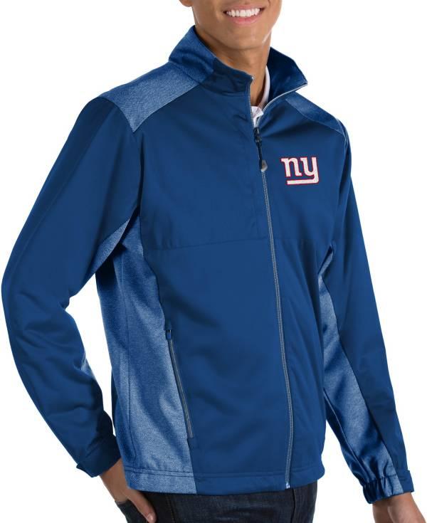 Antigua Men's New York Giants Revolve Blue Full-Zip Jacket product image