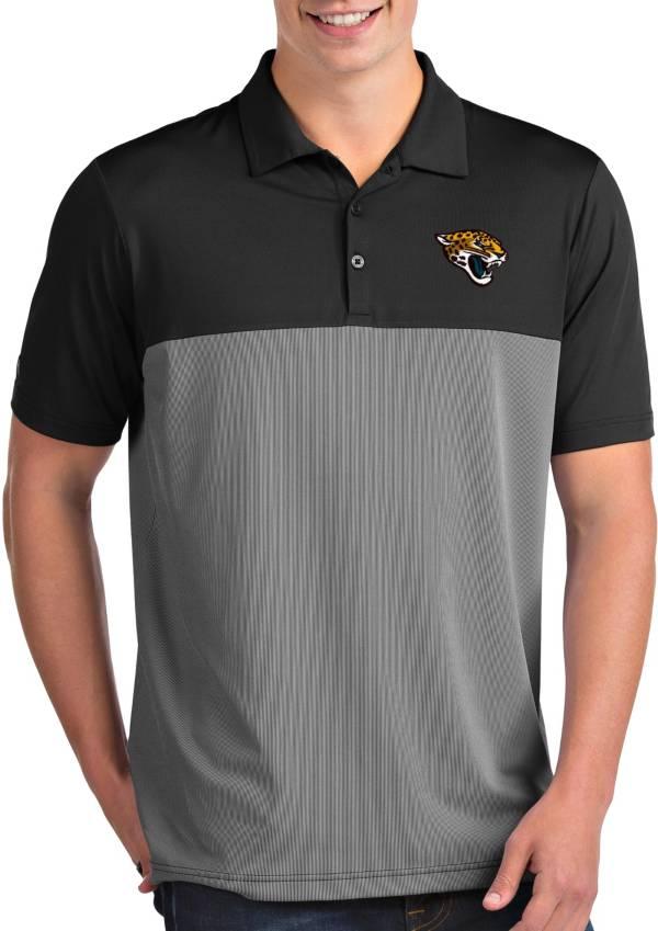 Antigua Men's Jacksonville Jaguars Venture Black Performance Polo product image