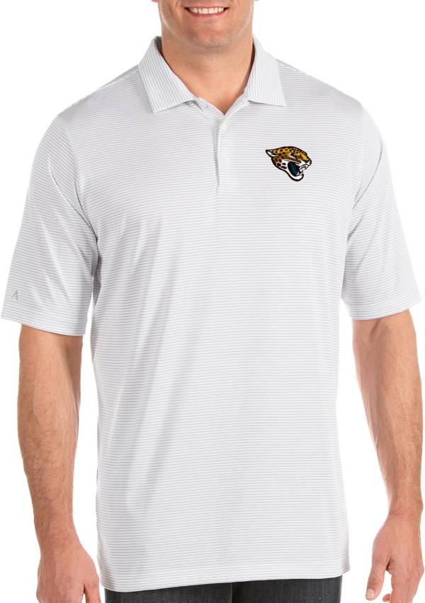 Antigua Men's Jacksonville Jaguars Quest White Polo product image