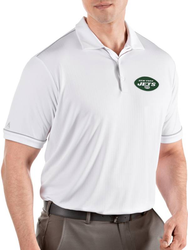 Antigua Men's New York Jets Salute White Polo product image