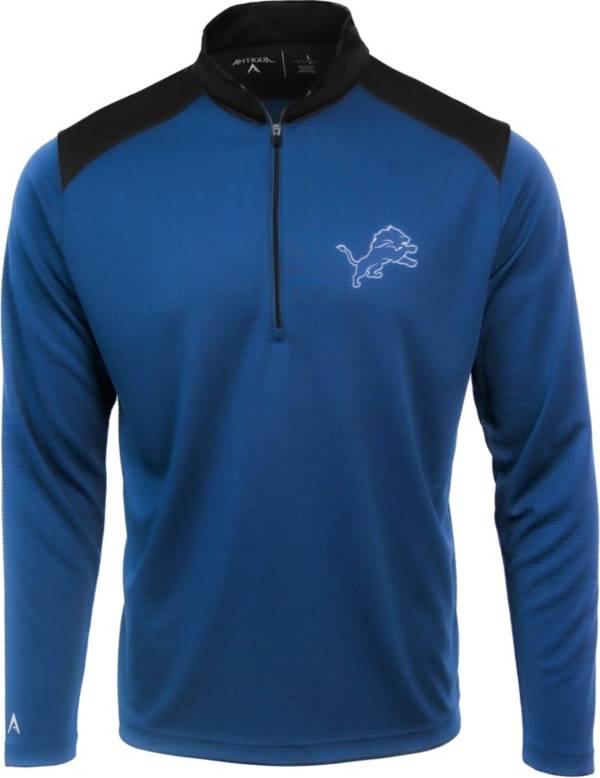 Antigua Men's Detroit Lions Velocity Blue Quarter-Zip Pullover product image