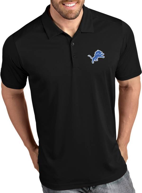 Antigua Men's Detroit Lions Tribute Black Polo product image