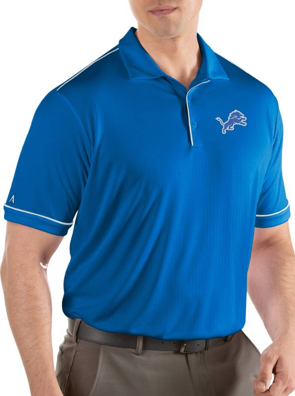 Antigua Men's Detroit Lions Salute Blue Polo product image