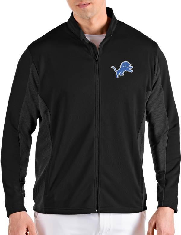 Antigua Men's Detroit Lions Passage Black Full-Zip Jacket product image