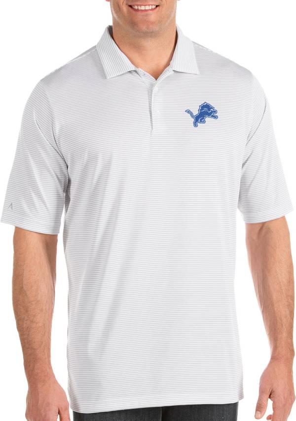 Antigua Men's Detroit Lions Quest White Polo product image