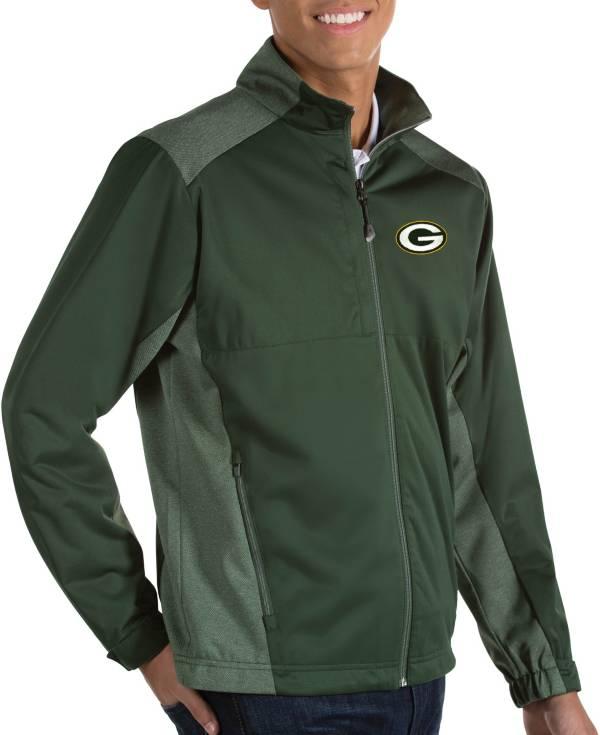 Antigua Men's Green Bay Packers Revolve Green Full-Zip Jacket product image