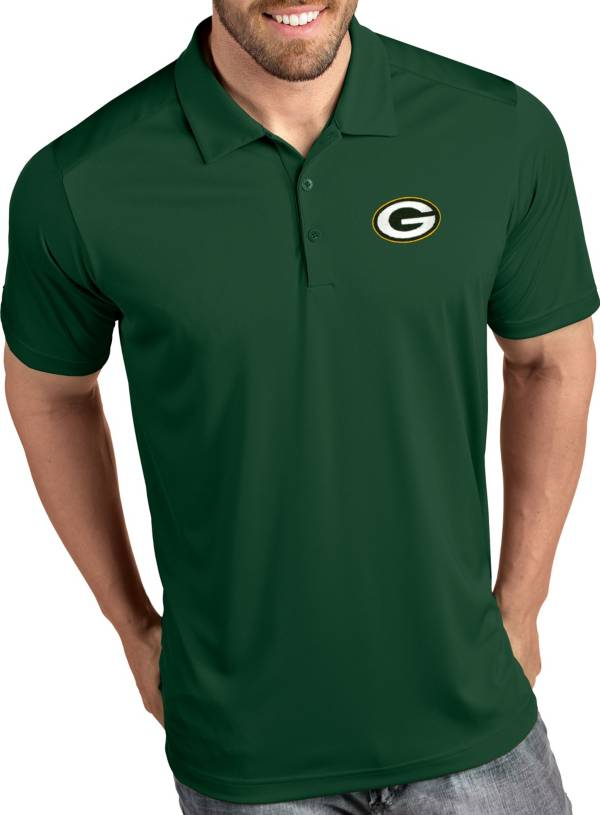 Antigua Men's Green Bay Packers Tribute Green Polo product image