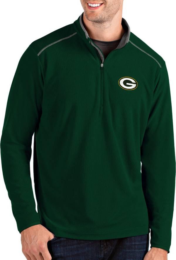Antigua Men's Green Bay Packers Glacier Green Quarter-Zip Pullover product image