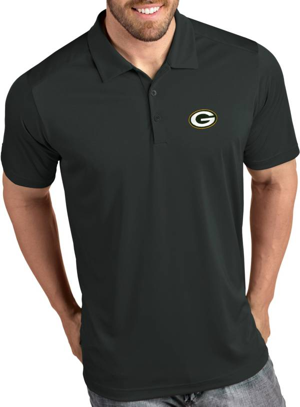 Antigua Men's Green Bay Packers Tribute Grey Polo product image