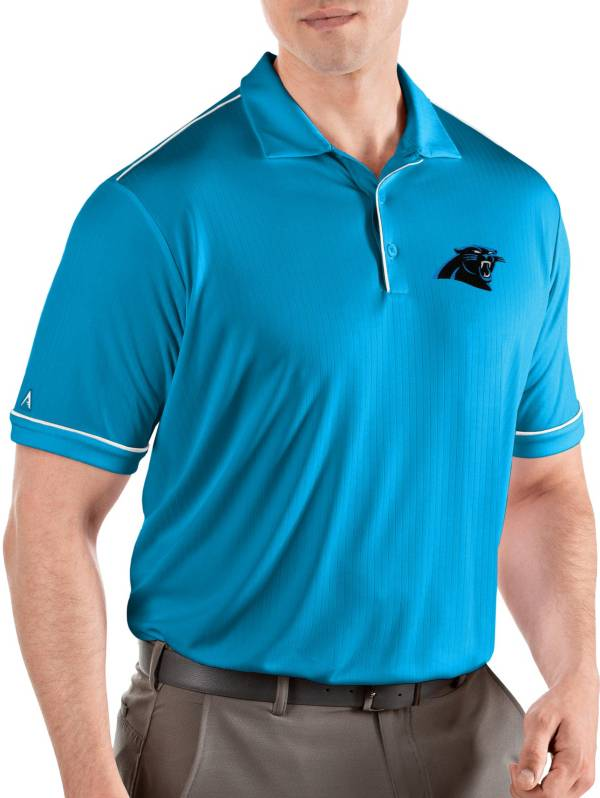 Antigua Men's Carolina Panthers Salute Blue Polo product image
