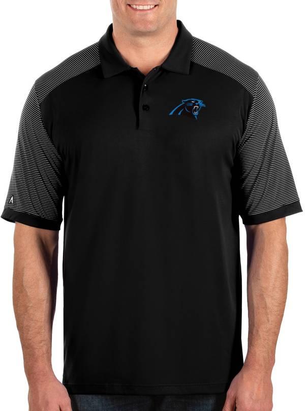 Antigua Men's Carolina Panthers Engage Black Performance Polo product image