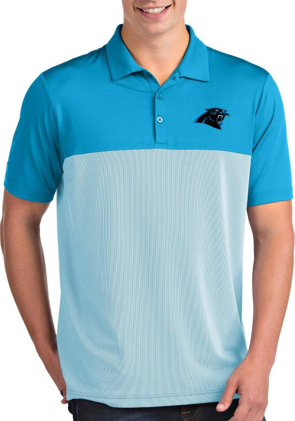 Antigua Men's Carolina Panthers Venture Blue Performance Polo product image