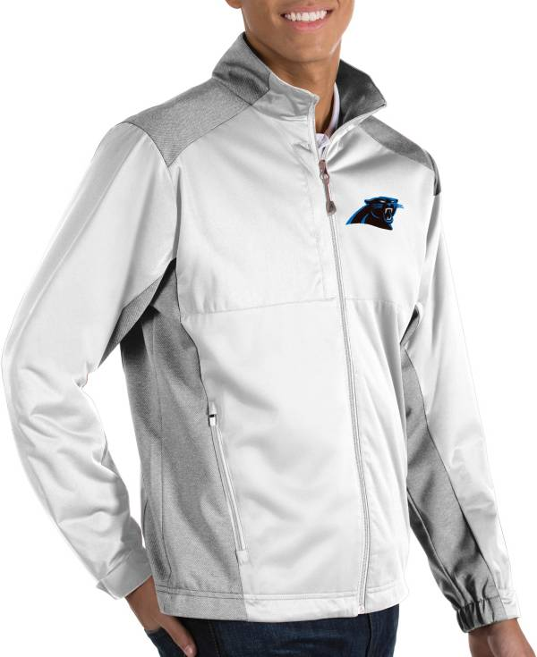 Antigua Men's Carolina Panthers Revolve White Full-Zip Jacket product image