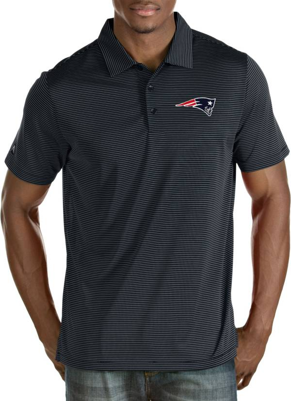 Antigua Men's New England Patriots Quest Navy Polo product image